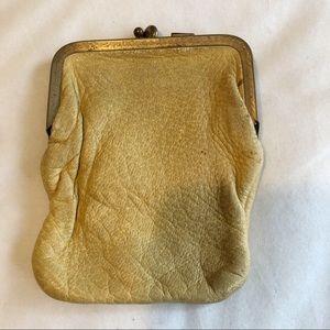 Handbags - Vintage Mustard Yellow Leather coin Purse